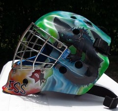 Hockey Mask airbrushed dragon