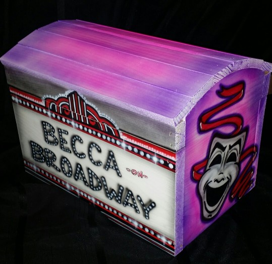custom airbrushed card collection box